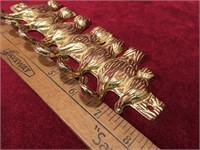 """8"""" Brass Cat Tails Key Hook"""