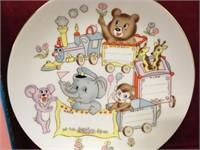 """8.5"""" Baby Plate w/ Pen - NIB"""