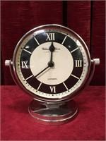 """Retro Appearance Quartz Chrome Clock - 7.5""""wide"""