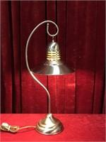 "Attractive Chrome Lamp - 10""dia x 25.5"""
