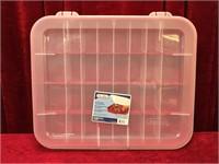 Sterilite Adjustable Compartment Storage Box