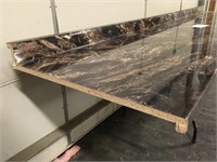 """121"""" Marbled Cappuccino Gloss Counter Top"""