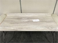 "53"" Fx Travetine Silver Scovato Counter Top"