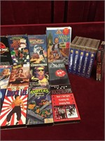 17 VHS Movies & 6 Blank Tapes