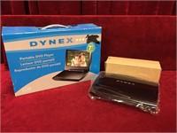 """Dynex 7"""" Portable DVD Player - NOS"""