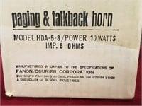 """Fanon 6"""" Bell Paging & Talkback Horn - NOS"""