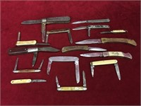 15 Old Pocket Knives - Note Condition