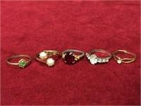 5 Ladies Rings Between Sizes 5 to 6