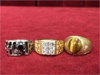 3 Men's Rings Between Sizes 9.5 to 11