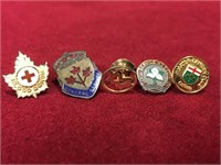5 Sterling Lapel Pins