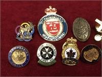 11 Various Lapel Pins & 2 Religious Pendants