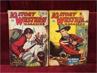 2 10-Story Western Magazines - 1945