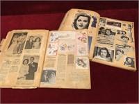 2 1940s Scrap Books