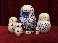 Hand Painted - Signed Russian Nesting Dolls
