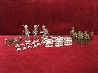 Vintage Toy Figures 25 Lead & 8 Metal