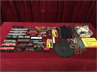 Various Model Train Cars, Engines, Tracks & More