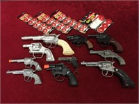 10 Various Cap Gun w/ Caps