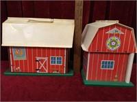 3 Vintage Fisher-Price Family Farms w/ Pieces