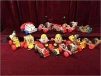 14 Vintage Fisher-Price Pull Toys