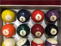 Rustic Billiard Balls Set - Note Condition