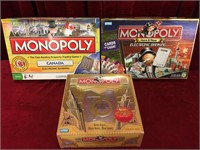 3 Monopoly Games - Consigned as Complete