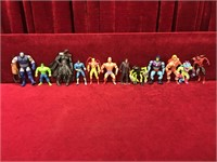 12 Various Action Figures