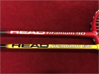 Head Titanium 60/90 Badminton Rackets & 12 Birds
