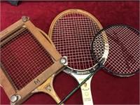 3 Various Rackets, 4 Paddles & Tennis Balls