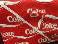 Coke Picnic Table Cloth w/ 4 Napkins - New