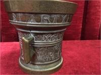 Vintage Brass Apothecary Mortar & Pestle