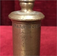 """Antique Buckeye Brass Works 4.5"""" Brass Whistle"""