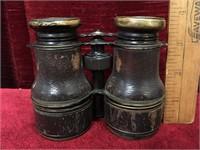 Antique Leather Bond Colmont Paris Binoculars