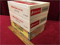 4 Vintage Cigar Boxes