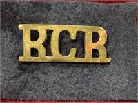WWII Royal Canadian Regiment Badge