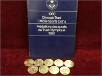 9 1980 Canada Olympic Official Sports Coins