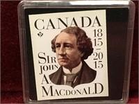 2015 Canada Sir John A Macdonald Toonie