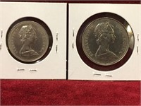 1969 Canada 50¢ & $1 Coins
