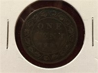 1897 Canada Large 1¢ Coin