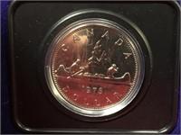 1976 Canada Uncirculated $1 Coin w/ Case