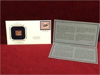 1918 US Inverted Jenny 22K Gold Replica Stamp