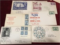 Vintage First Day Covers & 4 Post Cards