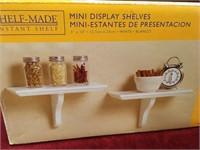 """2 5"""" x 10"""" Mini Display Shelves - NIB"""