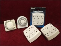 2 Timers & 3 Receptacle Adapters