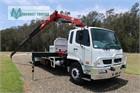 2012 Fuso Fighter 1627 FM Crane Truck
