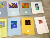 Lot of 12 Unframed Abstract Paintings
