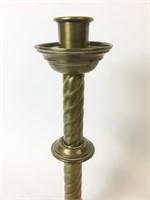 Set of 4 Greek Brass Candlesticks