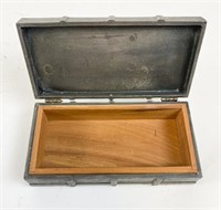 Wooden Tray & Pewter Box