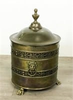 Brass Coal Coal Scuttle With Lid