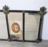 Neoclassical Three Panel Mirror