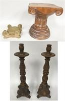 Wooden Candlesticks, Architectural Elements
